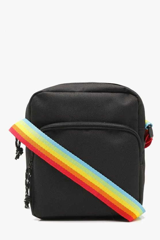Pride Rainbow Strap Nylon Crossbody Bag