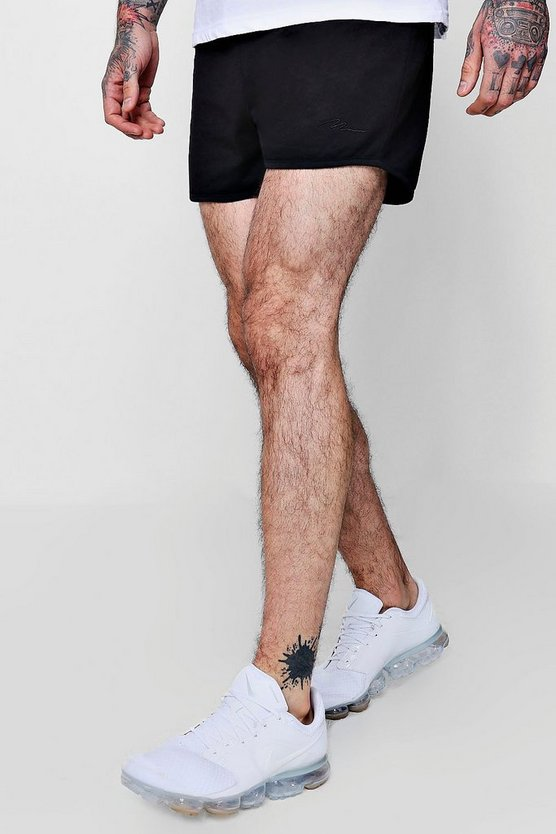 Runner Shorts With MAN Signature Embroidery
