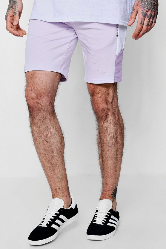MAN Signature Slim Mid Length Shorts