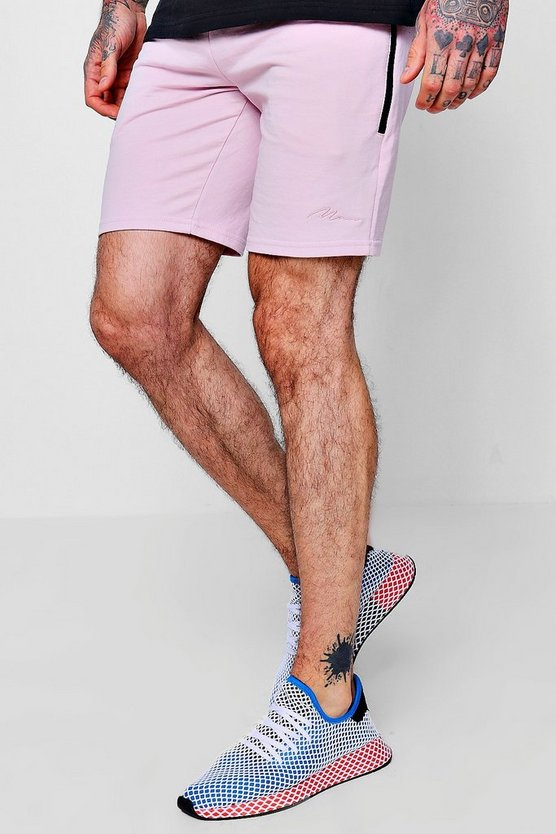 MAN Signature Mid Length Shorts With Pocket