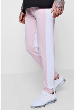 Mens Light pink MAN Signature Slim Fit Jogger