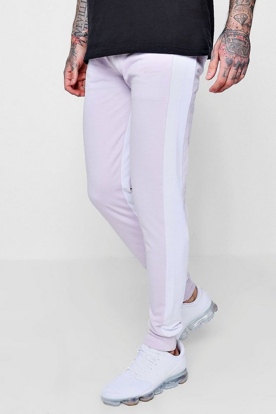 Mens Lilac MAN Signature Slim Fit Jogger