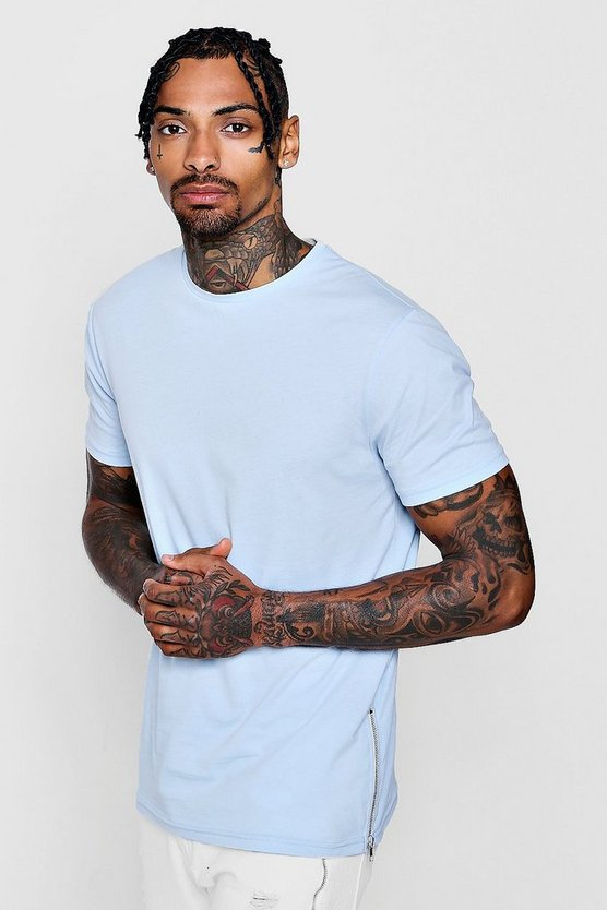 Dele Longline Side Zip MAN Signature T-Shirt