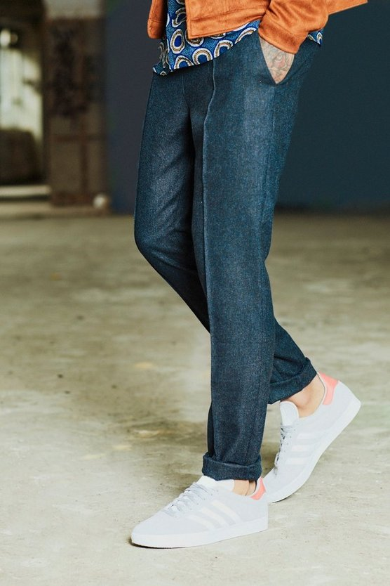 Dele Pin Tucked Wool Blend Formal Jogger