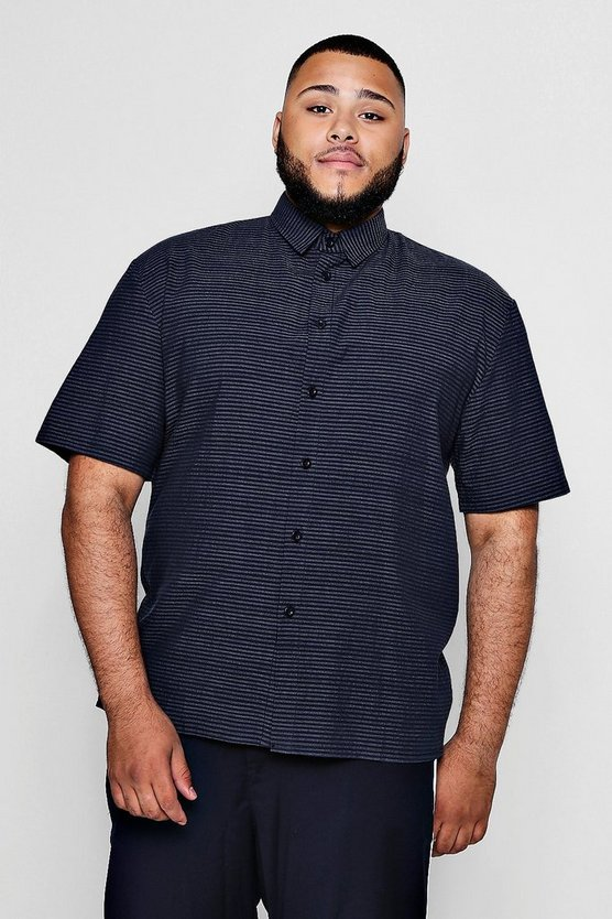 Big And Tall Striped Short Sleeve Shirt