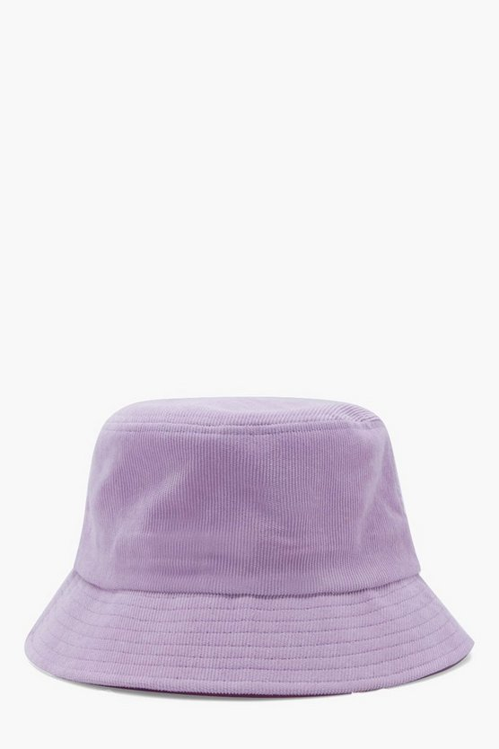 Mens Lilac Cord Bucket Hat