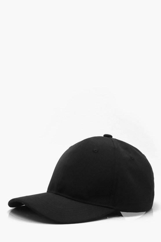 Mens Black Nylon Cap with Neon Toggle Detail
