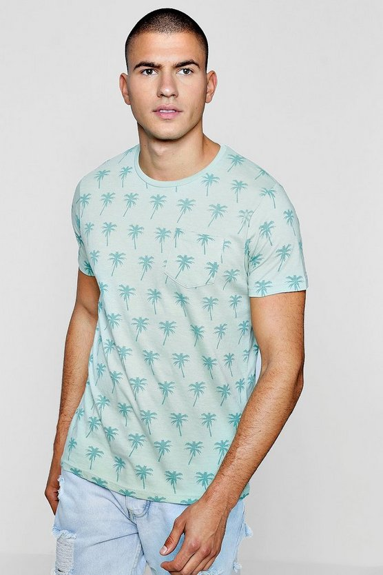 All Over Palm Print T-Shirt