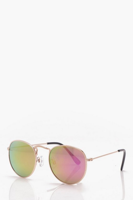 Rainbow Mirror Classic Round Sunglasses