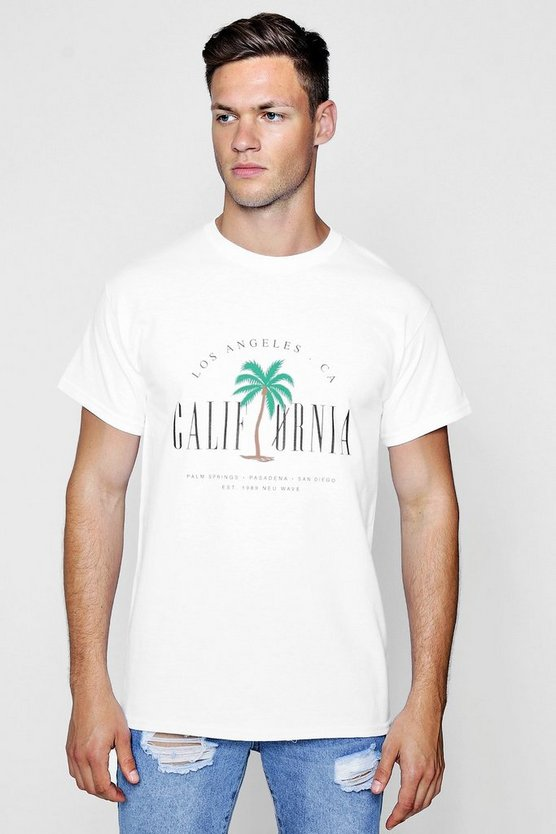 California Print T-Shirt