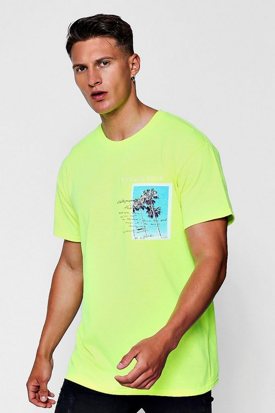 Ventura Beach Print Oversized T-Shirt