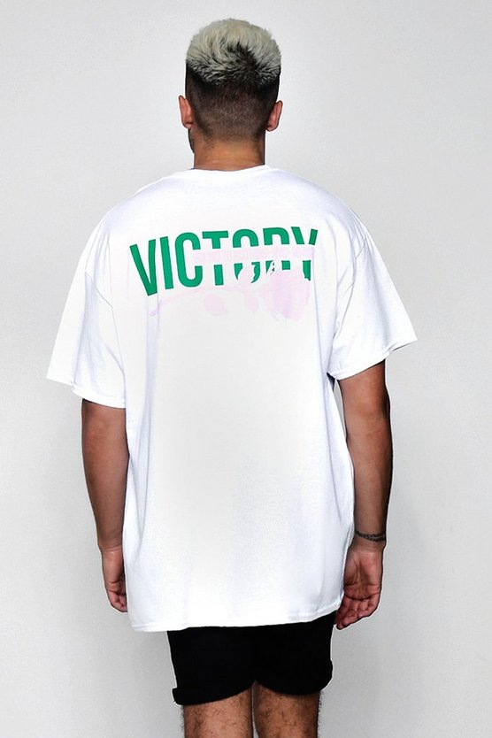 Oversized Victory Rose Front And Back T-Shirt