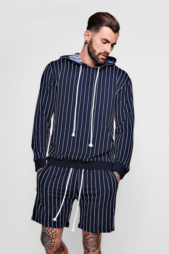 Striped Hooded Top & Short Set