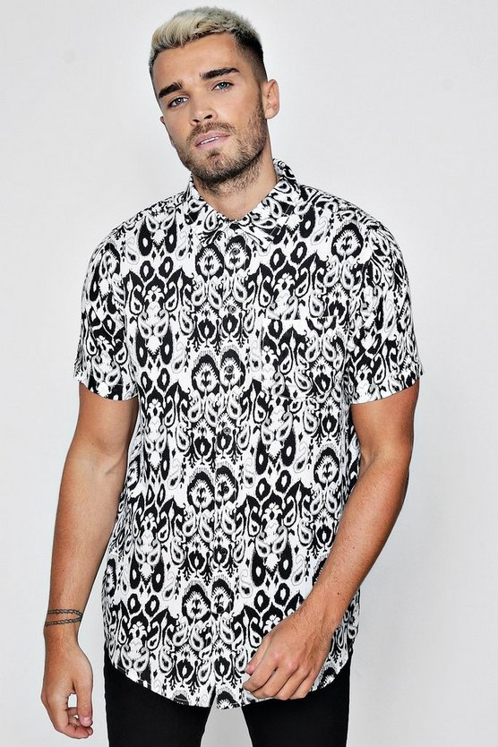 Tribal Print Short Sleeve Shirt