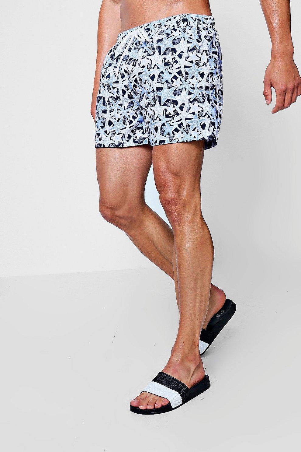 Bain Long MerBoohoo Shorts Étoile De Imprimé À EDHb9YIeW2