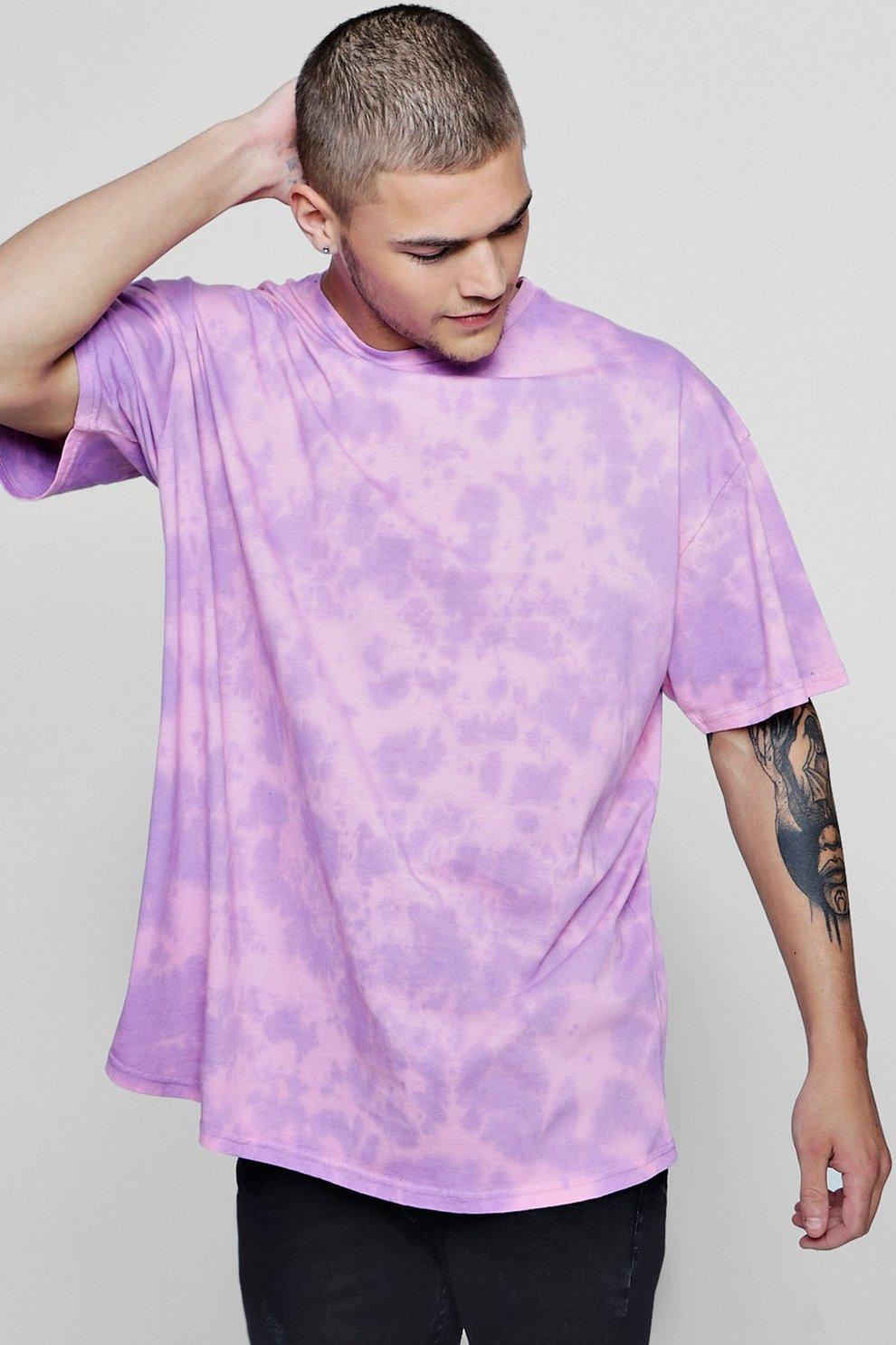 Effetto Dye Tie Boohoo shirt Magliette T Oversize Rosa ybf7vIYg6