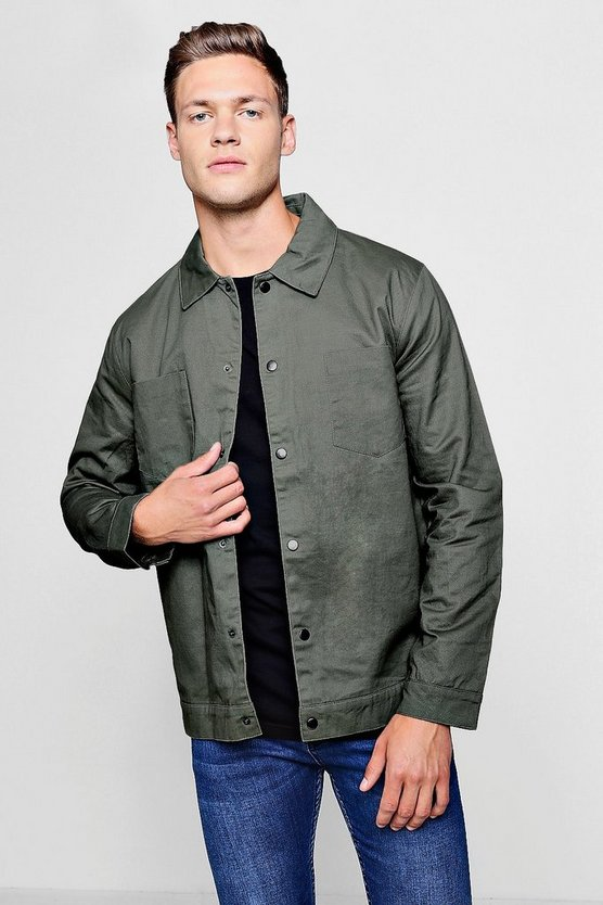 Cotton Twill Coach Jacket