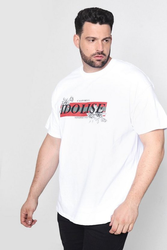 Big And Tall Idolise Front Print T-Shirt