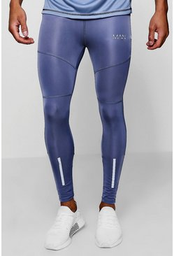 Mens Blue Active MAN Gym Tight