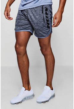 Mens Black Active Gym Runner Shorts