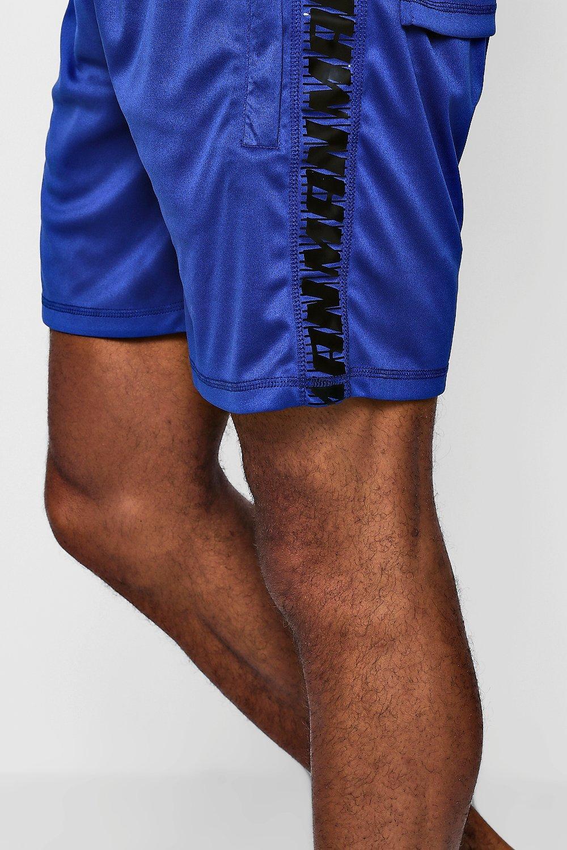 en Active con cobalto laterales Pantalones detalle cortos Gym vFwSxqg