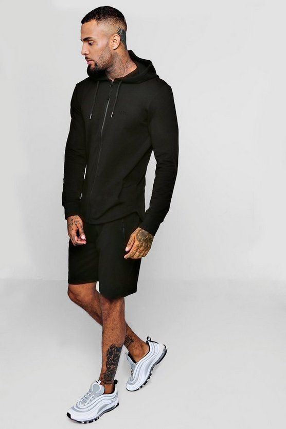 Active Gym Hoodie Short Tracksuit
