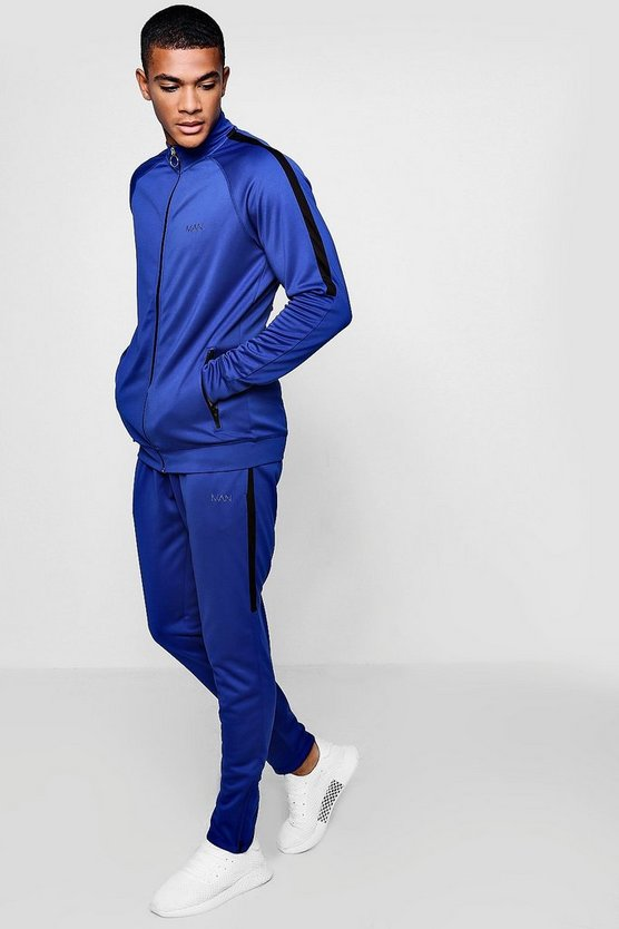 Active Skinny Funnel Neck Gym Tracksuit