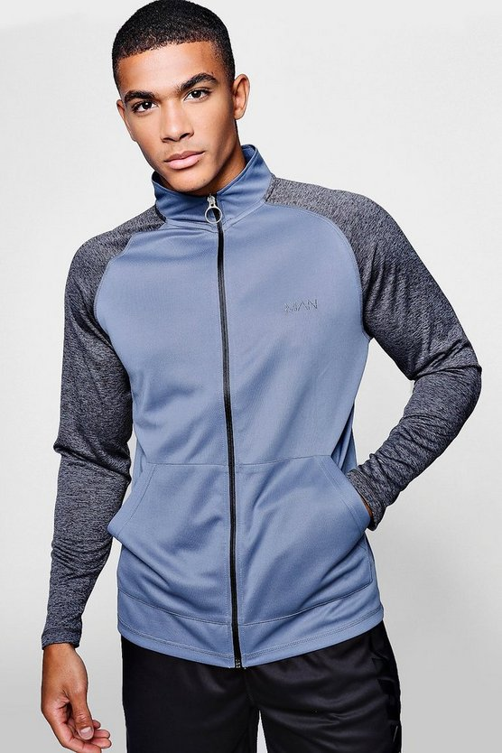 Active Gym Zip Through Funnel Neck Track Top