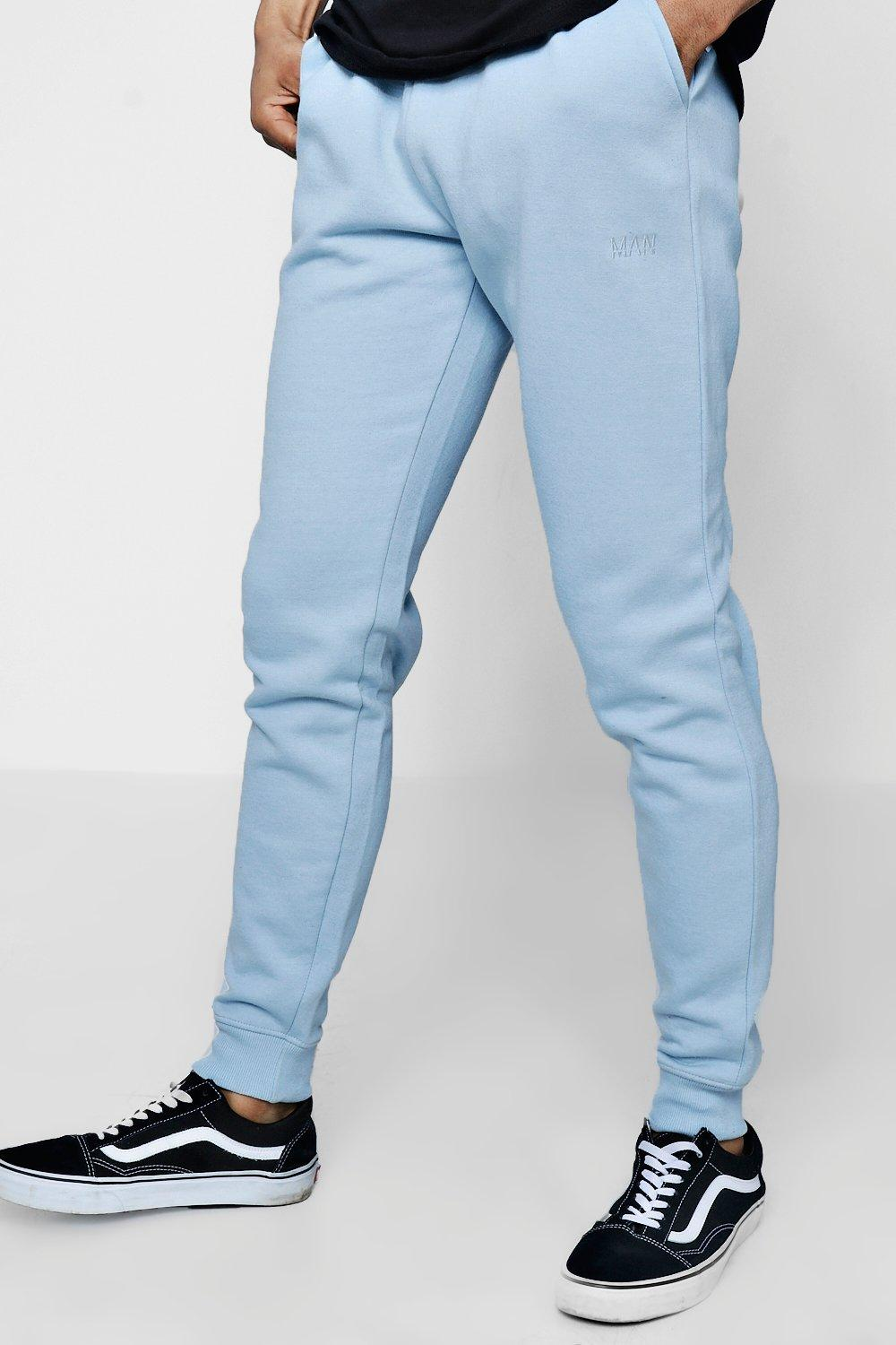 MAN Embroidered dusty blue Skinny Joggers Original w0dUxq4w