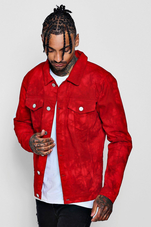 red denim shirt men