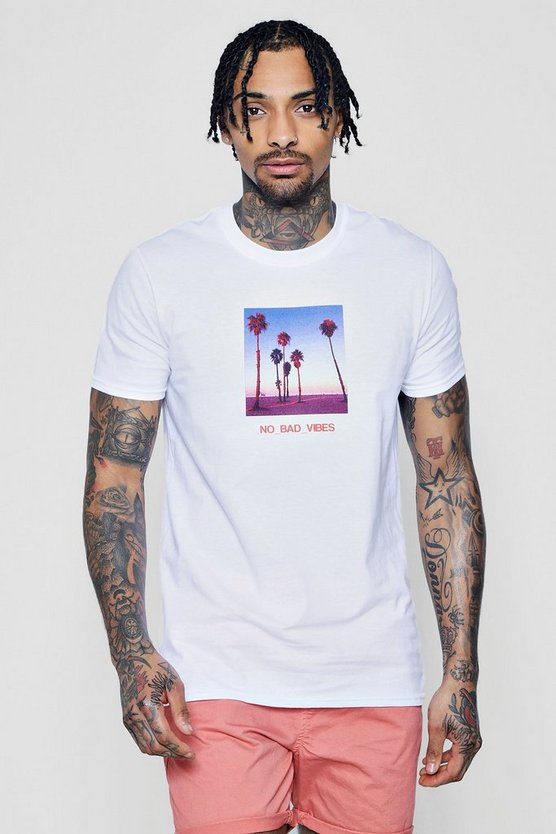 Front And Back Print Cali T-Shirt