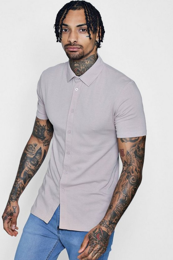 Muscle Fit Short Sleeve Jersey Shirt
