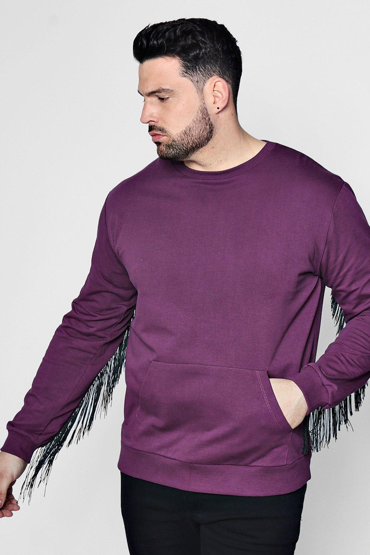 Big And Tall Tassel Back Sweater