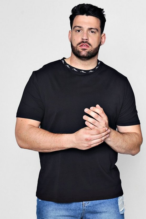 Big And Tall MAN Embroidered Rib T-Shirt