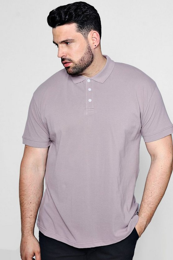 Big And Tall Short Sleeve Pique Polo