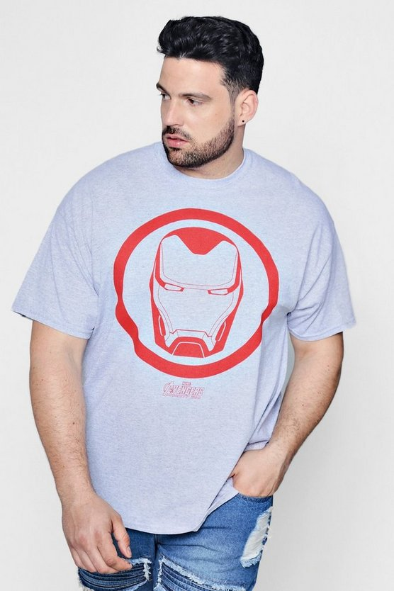 Mens Grey Big And Tall Marvel Ironman T-Shirt