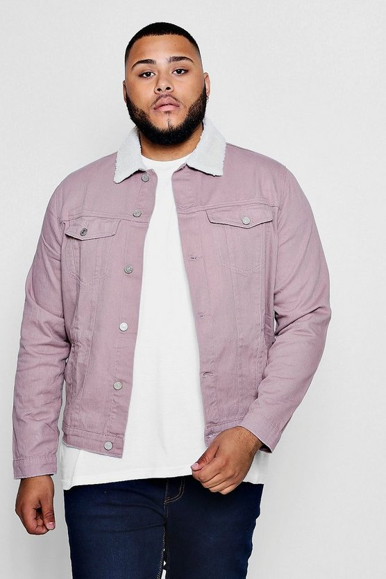 Big And Tall Pastel Denim Jacket