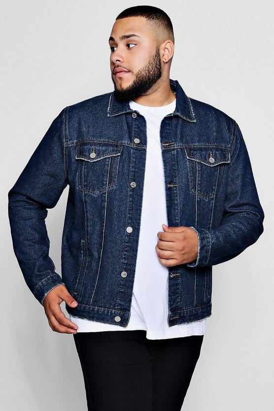 Big And Tall Regular Fit Denim Western Jacket