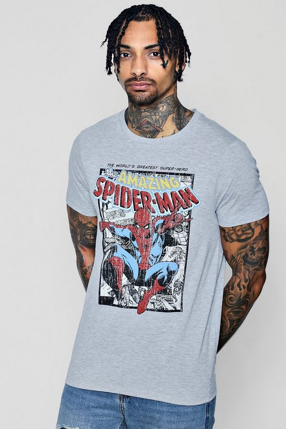 Marvel The Amazing Spiderman Comic T-Shirt