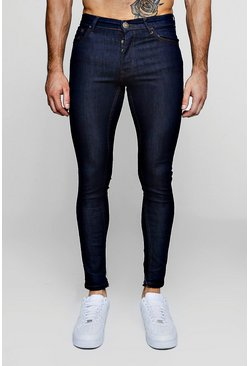 Mens Spray On Skinny Jeans In Indigo