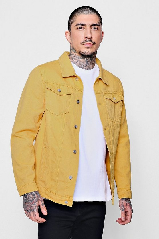 Yellow Denim Trucker Jacket