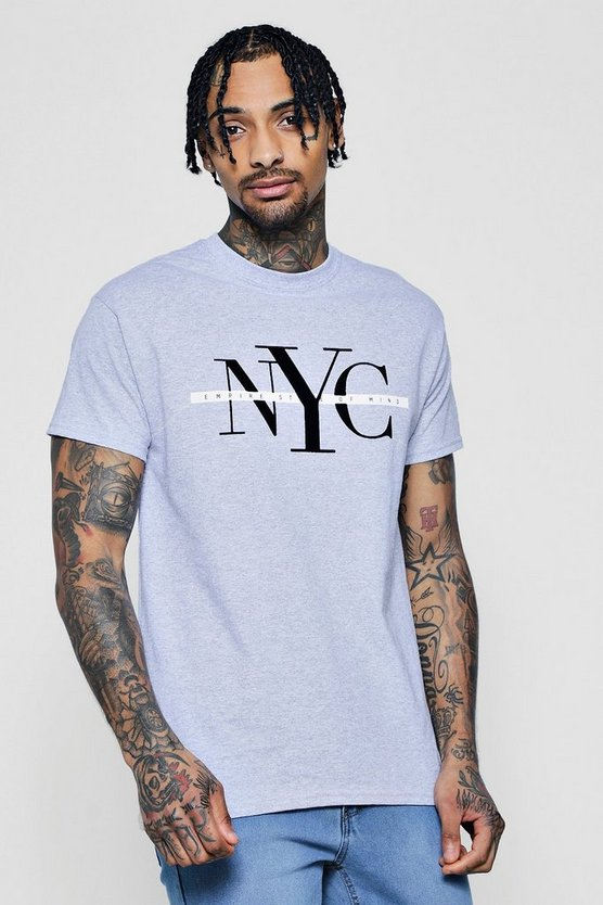 NYC Flock Print T-Shirt