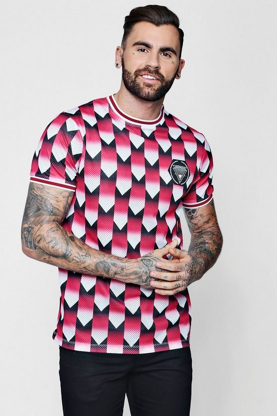 Retro Printed Football Shirt