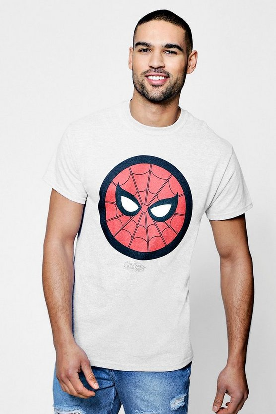 Grey Marvel Spider Man Icon T-Shirt