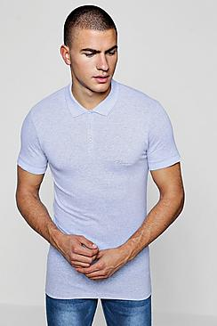 short sleeve muscle fit man signature polo