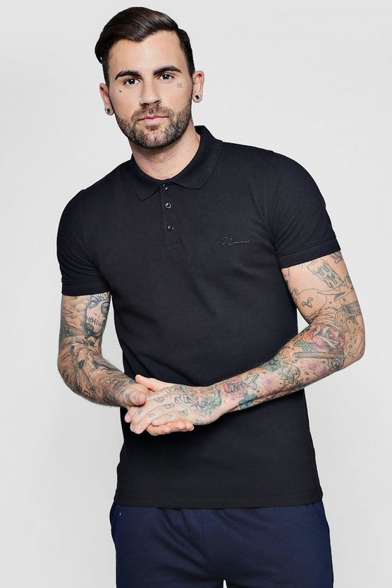 Short Sleeve MAN Signature Pique Polo