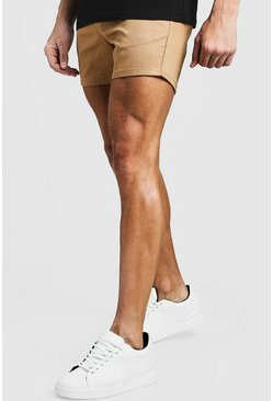 Short Length Slim Fit Chino Short In Stone, МУЖСКОЕ