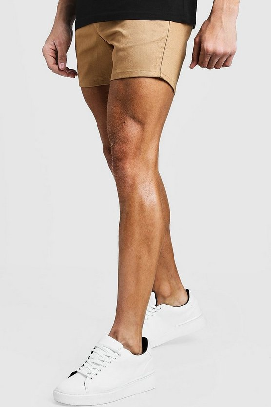 Short Length Slim Fit Chino Short In Stone