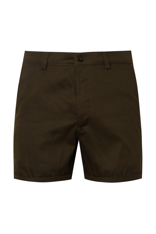 chinos en corto largo caqui color de caqui cortos Pantalones 4CPqxwvpx