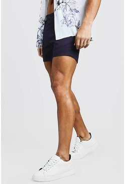 Short Length Slim Fit Chino Short In Navy, МУЖСКОЕ